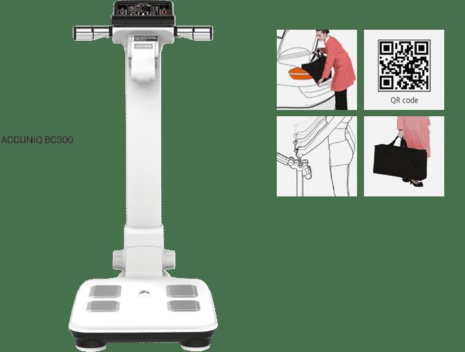 เครื่องวัด วิเคราะห์ส่วนประกอบร่างกาย ไขมัน Accuniq BC300