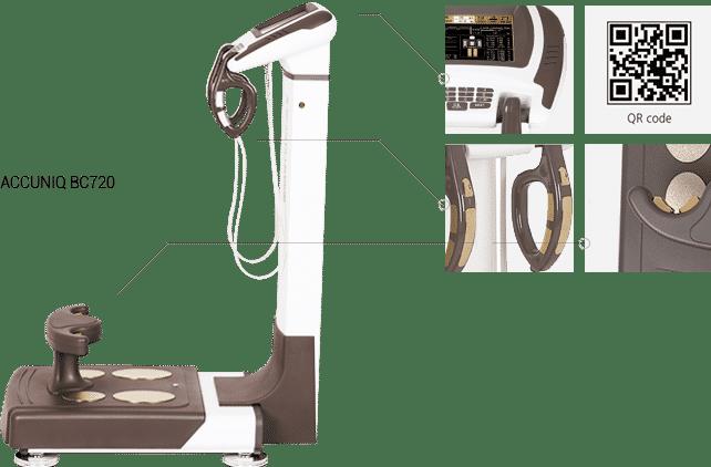 เครื่องวัด วิเคราะห์ส่วนประกอบร่างกาย ไขมัน Accuniq bc720