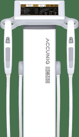 ดัชนีมวลกาย เครื่องวัดวิเคราะห์ส่วนประกอบร่างกาย Accuniq BC360