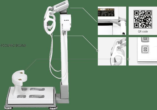 เครื่องวัดวิเคราะห์ส่วนประกอบร่างกาย Accuniq BC360 ไขมัน