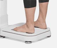 เท้าเหยียบเครื่องวัดวิเคราะห์ส่วนประกอบร่างกาย Accuniq bc380
